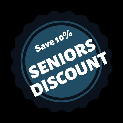 10% Seniors Discounts
